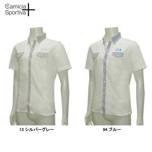 Camicia Sportiva + カミーチャ スポルティーバ 春夏 アーガイルジャガード 半袖シャツ|depot-044