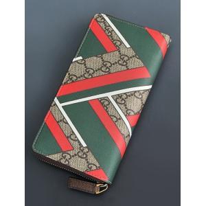 グッチ  gucci 429223 長財布 ラウンドジップ ラウンドファスナー イタリアンカラーのシェブロンプリント 個性派デザインで魅了するロングウォレット deradera