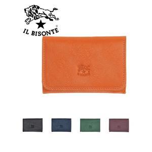 イルビゾンテ IL BISONTE メンズ カードケース ZOOMモデル レザー製 名刺 レディース...
