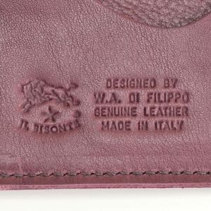 8454e858a8c6 ... イルビゾンテ IL BISONTE メンズ 革財布 プラム パープル系 イタリア製 スナップボタン留め レザーロングウォレット ...