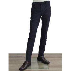 PT01 デニム インディゴ BLACK LOUNGE SUPER SLIM FIT ストレッチの効いたスラックス パンツ メンズ|deradera