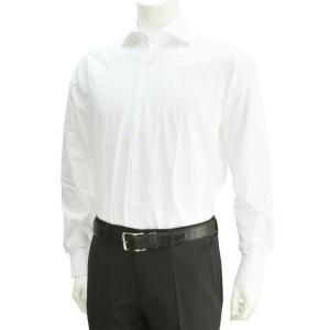 ボンサー  ワイシャツ 白シャツ 3mm間隔ピンドット ドビー ワイドスプレッド ホリゾンタル BONSER メンズシャツ deradera