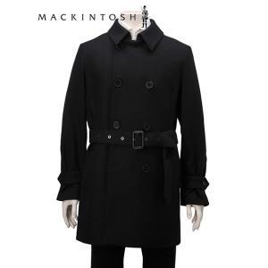 マッキントッシュ  MACKINTOSH ダブルトレンチコート メンズ ブラック 1014F ライト...