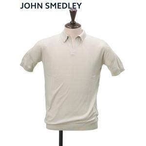 ジョンスメドレー JOHN SMEDLEY メンズ NOAH コットンニット 半袖ポロシャツ ベージ...