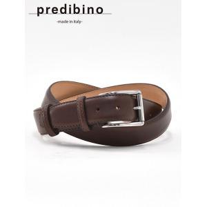 プレディビーノ  ブラウン 35mm幅 色の濃淡も個性として愉しむ  軽めヴィンテージさを装うイタリア製 レザーベルト|deradera