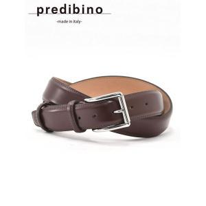 ベルト メンズ  本革 ビジネス スムースレザー プレディビーノ PREDIBINO ダークブラウン イタリア製  35mm|deradera