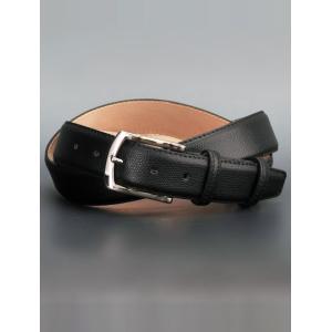 プレディビーノ Predibino 35mm幅 ブラックカラー テクスチャード・レザー ドラーロ型押し イタリア製ベルト|deradera
