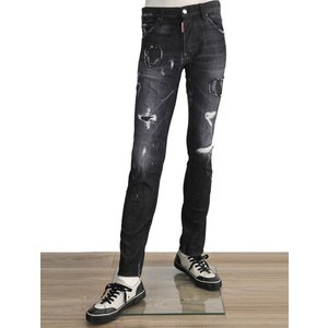 ディースクエアード  ブラックカラージーンズ メンズデニムパンツ クールガイ スリム ダメージ加工|deradera