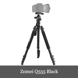 Zomei Q555 63インチ カメラ三脚 軽量 Andoerクリニングクロス付き 旅行 ポータブ...