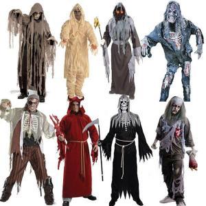 ハロウィンコスプレ衣装大人、メンズゾンビ恐怖死神変装仮装ハロウィンコスチューム