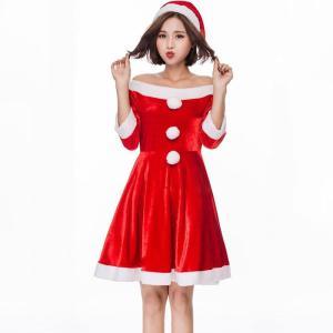 クリスマス 衣装 サンタ コスプレ サンタクロース衣装 パーティードレス レディース サンタ服 仮装 コスチューム sdf109