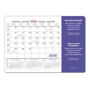 【2020】マウスパッドカレンダー スタンダード 【bp20-841】|desco