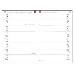 【カラー】X47 A6 Weekly Calendar Compact  ウィークリーカレンダー コンパクト 2021 【12x21k-cl】(受注生産のため+5営業日ほどお時間頂いております。)|desco