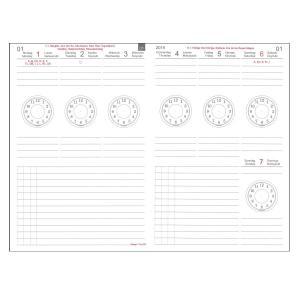 【X47】A6 Weekly Calendar Time Circles ウィークリーカレンダー タイムサークルズ 2021 【12x21t】|desco