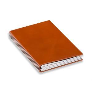 【SALE】【X47】A5 X47 STEEL 【本革・オレンジ・4冊セット】sy5-4o|desco