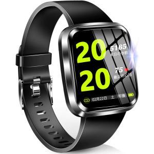 【2020最新デザイン 1.3インチHD画面】 スマートウォッチ 活動量計 フルタッチスクリーン 心拍計 歩数計 万歩計 smart watch IP design-life