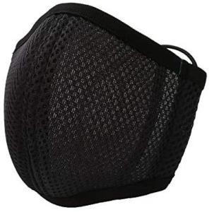 息らくらくマスク (ブラック) メッシュマスク [抗菌防臭][日本製] 立体構造 口元空間 高通気 速乾 不織布マスクをフィルターとして挿入可|design-life