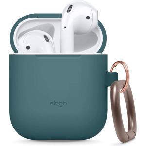elago AirPods 対応 ケース カラビナ 付 シリコン 製 カバー 耐衝撃 傷防止 落下防止 保護 アクセサリー [ Apple AirPo|design-life