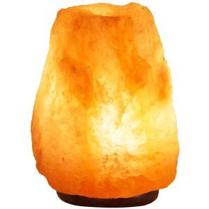 ヒマラヤ岩塩ランプ 1.52kg マイナスイオン発生 空気浄化と癒しの灯り ナチュラルクリスタル 岩塩ライト|design-life