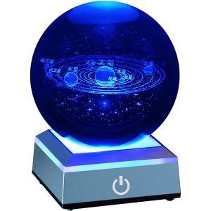 宇宙 クリスタル ボール 80mm 太陽系 水晶玉 八つ惑星 インテリア 置物 ベッドサイドランプ 物理 おもちゃ ソーラーシステム 学習用教学用器具|design-life