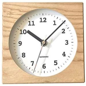 KATOMOKU Dual use clock 4 km-95NRC ナチュラル 電波時計 連続秒針|design-life