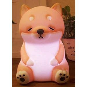 りぶはあとシリコンランプねむねむアニマルズ柴犬のコタロウ(全長約15cm)色が変わる61049-44|design-life