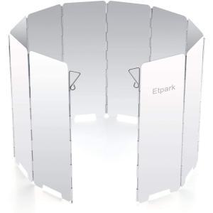 Etpark風除板 ウインドスクリーン 折り畳み式 防風板 アルミ製 10枚 延長版 軽量 収納袋 付き (風除板) design-life
