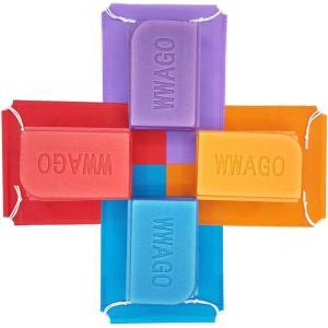 GoodKuru 折り畳み マット 座布団 4個セット 収納袋付き 軽量 コンパクト 防水 レジャー サウナ シート (赤,紫,橙,青(1枚ずつ)) design-life
