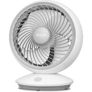 【2020年版】Umimile サーキュレーター 首振り 静音 壁掛け 扇風機 18cm 小型 卓上 6畳 風量3段階調節 パワフル送風 省エネ 5枚 design-life
