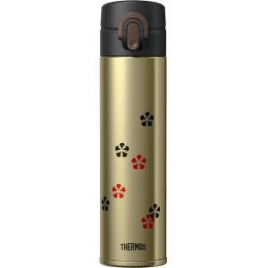 サーモス 日本製 水筒 真空断熱ケータイマグ ワンタッチオープン 400ml ゴールド JOA-400GL design-life