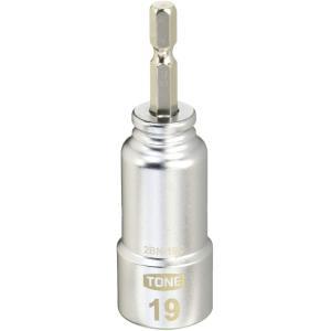 トネ(TONE) 電動ドリル用コンパクトソケット 2BN-19C ビット差込 二面幅19mm design-life