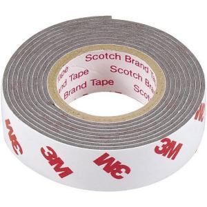 エーモン 超強力両面テープ (硬いダッシュボードなどに) ポリプロピレン・塩ビ対応 車内用 グレー 幅15mm×長さ1m×厚さ1.2mm 3902|design-life