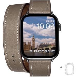 WFEAGL コンパチブル Apple Watch バンド, は本革を使い, iwatch series 6/5/4/3/2/1,SE レザー製,Sp design-life