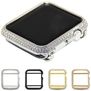 Apple Watch Series 4 ケース/カバー ラインストーン きらきら カラーサイドアルミバンパー 44mm用 シンプルでおしゃれなアップ design-life