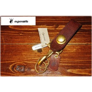 esperanto 【エスペラント】 ESP-6200 COIN EURO KEYHOLDER BRN 【新品】 【メンズ レディース】 【イタリアンレザー】 【本革製】 【ギフト】|design-s
