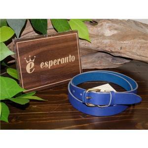 esperanto 【エスペラント】 ESP-6382 ニューヨーク レザー ナローベルト  BLUE 【新品】 【メンズ レディース】 【イタリアンレザー】 【本革製】 【ギフ|design-s