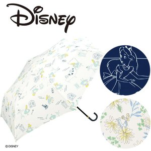 Wpc ディズニー 折り畳み傘 晴雨兼用 UVカット 不思議の国のアリス