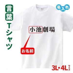 名入れ Tシャツ 話題 小池劇場  大きいサイズ 3L 4L 政治 言葉 おもしろ
