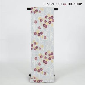 帯 着物 和装 川島織物セルコン じゅらく謹製 輪奈織ぬい袋帯「立涌に桜散し紋」白鼠色 芯入仕立上り