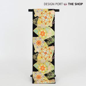 川島織物謹製 七五三 七歳用袋帯 祝帯 祥華桧扇 黒 1II862054