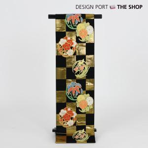川島織物謹製 七五三 七歳用袋帯 祝帯 清遊花 R 黒 1II873018