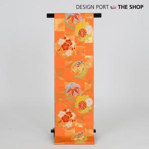 川島織物謹製 七五三 七歳用袋帯 祝帯 清遊花 R 朱 1II873028