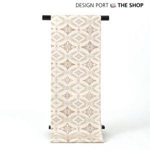帯 着物 和装 川島織物セルコン 錦袋帯(ぬい袋)「芳映組文」白茶 芯入仕立上り