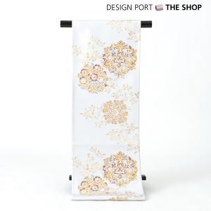 帯 着物 和装 川島織物セルコン 錦袋帯(ぬい袋)「優花装円文」淡ネズ 芯入仕立上り