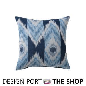 背当クッションカバー 受注生産品 テシゴトイカット(ブルー)45×45cm 川島織物セルコン|designport