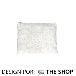 更にお値下げしました!フラットポーチ チュールエンブロイダリー 約W23×H18cm 川島織物セルコン 生産終了予定|designport