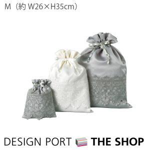 巾着 シンプリー デコ2 エンブロイダリー(刺繍)Mサイズ 26×35cm designport