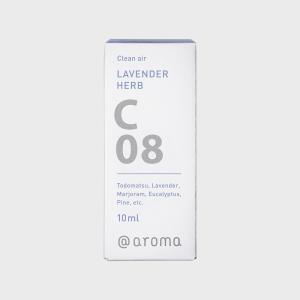 アットアロマ エッセンシャルオイル C08 ラベンダーハーブ 10ml|designshop-jp