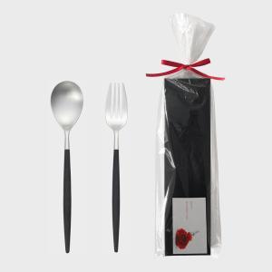 国内正規品Cutipol クチポール GOA ゴア デザートスプーン&フォークセット  ご自宅で、ギフトに、クチポール カトラリー ゆうパケット 13|designshop-jp