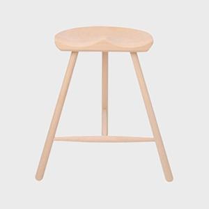 キャッシュレス還元 WERNER ワーナー社 シューメーカーチェア スツール 椅子 H59cm  無塗装 北欧|designshop-jp